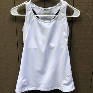 Athleta white racer back top